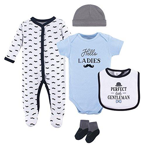 Hudson Baby Baby Multi Clothing Set, Little Gentleman 5 Piece, 3-6 Months (6M)