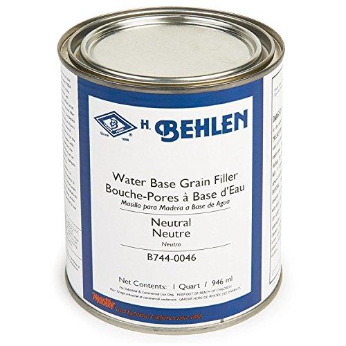 Water Base Grain Filler, Neutral, Quart by Behlen