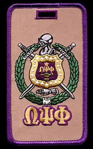 (Omega Psi Phi Fraternity Shield Embroidery Id/luggage Tag)