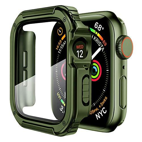 Funda Resistente para Apple Watch 4 5 6 Se 38 mm Army Green