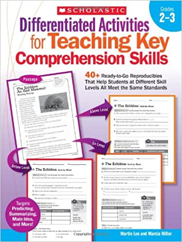Differentiated Activities for Teaching Key Comprehension Skills ...