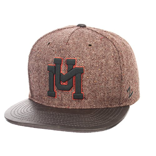 Zephyr NCAA Miami Hurricanes Adult Men Legend Heritage Collection Hat, Adjustable, Tweed