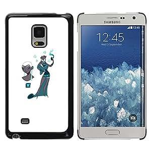 TopCaseStore / la caja del caucho duro de la cubierta de protección de la piel - Kashmir Teal Fashion White - Samsung Galaxy Mega 5.8 9150 9152