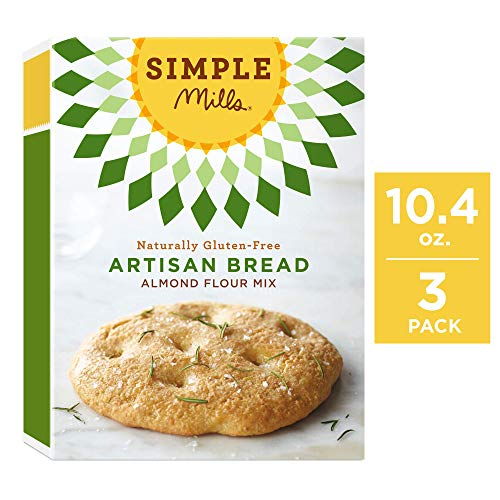 Simple Mills Almond Flour Mix, Artisan Bread, 10.4 Ounce (Pack of 3)