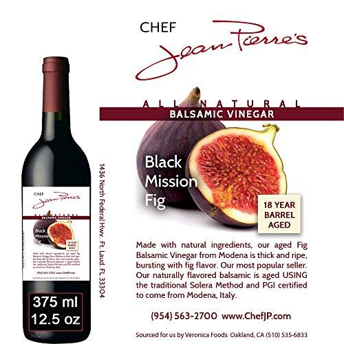 Black Mission Fig Aged 18 Years Italian Balsamic Vinegar 100% All Natural 375ml (12.5oz)