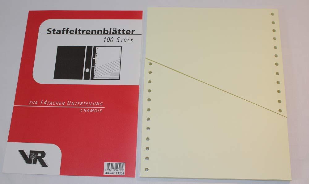 1000 Trennstreifen 10,5 x 24 cm grau Viktor Richter 180 g//qm