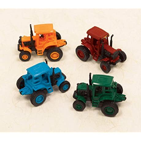 Amscan Amsdd Colors Pull Back Farm Tractor Party Favour 24 Piece 3 X 2 X 2