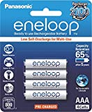 Panasonic Battery Eneloop BK-4MCCE/4BN 800mAh AAA Rechargable Battery - Pack of 4 (White)