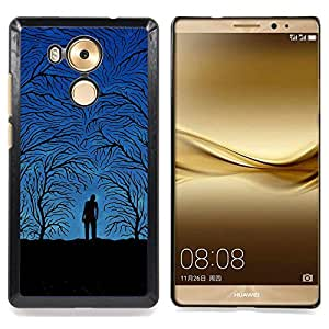 Blue Night Forrest Caja protectora de pl??stico duro Dise?¡Àado King Case For Huawei Mate 8