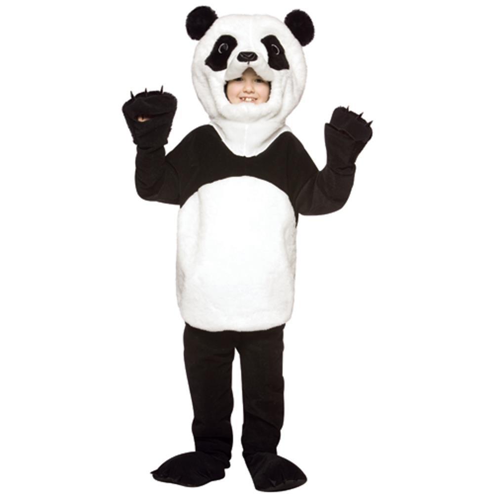 Child Deluxe Panda Bear Costume, Medium, Black and White