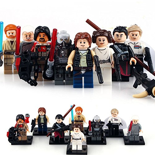TONGROU 8PCS-Rogue-One-Minifigures-Sith-Lords-Han-Solo-Baze-Pincess-Leia-Toys
