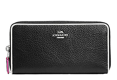 Coach Multi Edgestain Accordian Zip Wallet in Pebbled Leather - #F12585