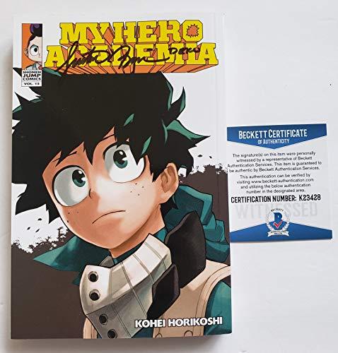 Justin Briner autographed Manga Volume 15 Comic Book My Hero Academia Deku Beckett