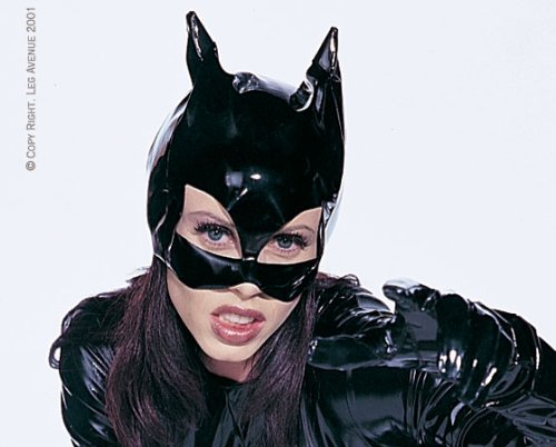 [Leg Avenue Women's Vinyl Cat Woman Mask Costume Accessory, Black, One Size] (Costume Catwoman Vinyl)