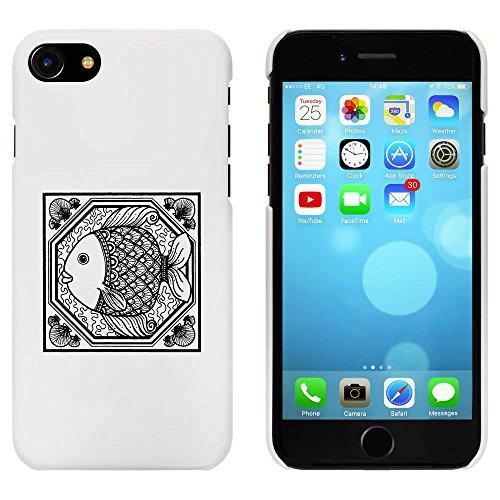 Blanc 'Motif Carré de Poisson' étui / housse pour iPhone 7 (MC00065434)