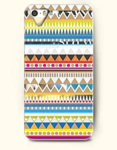 OOFIT Aztec Indian Chevron Zigzag Pattern Hard Case for Apple iPhone 4 4S ( Colorful Aztec Tribe Pattern )