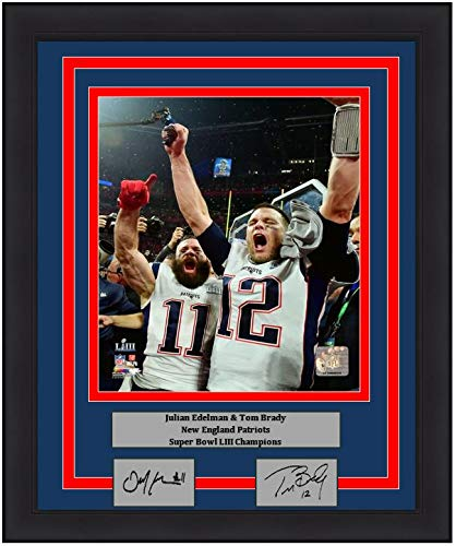 (Patriots Tom Brady & Julian Edelman Super Bowl LIII Celebration 8