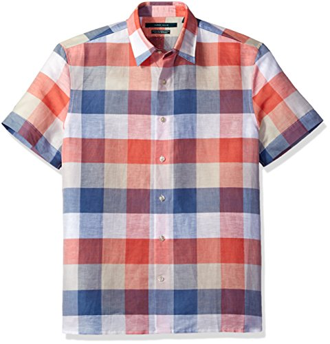 Perry Ellis Short Sleeve Plaid