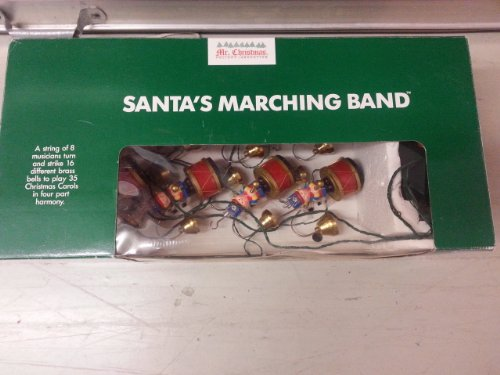 Vintage Mr. Christmas Santa's Marching Band in Green Box by Mr Chrismast