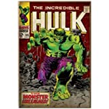 Silver Buffalo MC5671 Marvel Hulk Unleashed Comic Book Cover 3-D Wood Wall Art, 13 x 19 inches