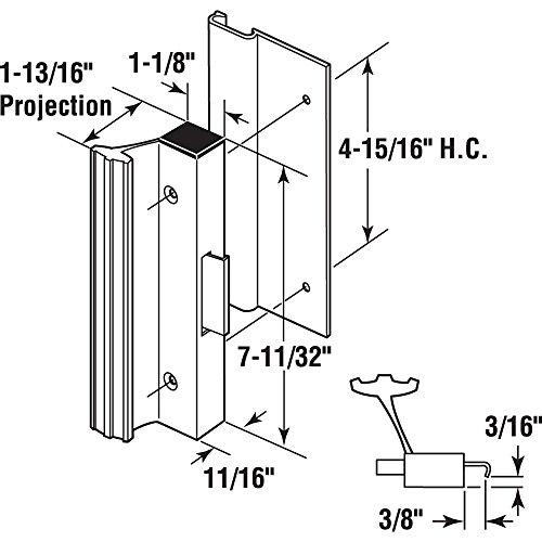 Slide-Co 14399-B Sliding Door Handle Set, Bronze Finish by Slide-Co (Image #1)