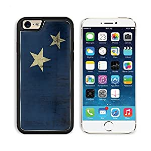 Grunge Flag Blue Yellow Stars Punktail's Collections iPhone 6 Cover Premium Aluminium Design TPU Case Open Ports