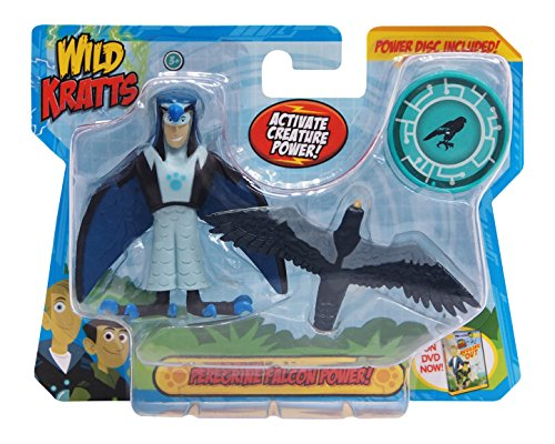 Action Figure Two Pack - Wild Kratts Toys - 2 Pack Creature Power Action Figure Set - Peregrine Falcon Power
