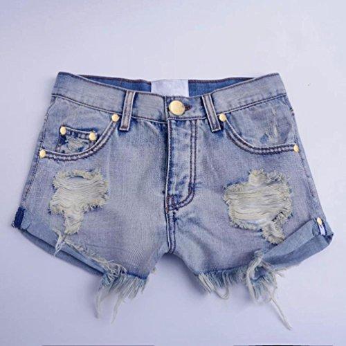 Mini Taille Lave Femmes Court Culater Bleu Jeans Denim faible Dchir Pantalons Shorts Trou Zw0EHqE