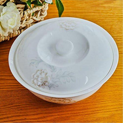 Liuyu Kitchen Home Bone China Soup Bowl Soupe Pot 9 Pouces Avec Couverture Soupe Bassin Accueil