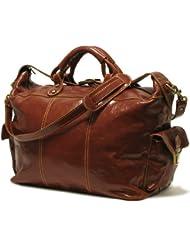 Floto Luggage Venezia Travel Tote, Vecchio Brown, Large