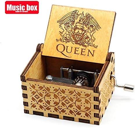 ZDJQ Caja De Música Manivela De Madera Queen The The Theme Music ...