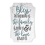 MRC Wood Products Bless The Food Before Us and The Family Beside Us Distressed Sign 12x8