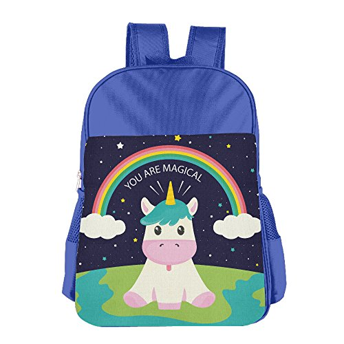 Kids Funny Unicorn Back To School Backpacks Students Bookbag Lunch Bag Tote Snack Bags With Water Bottle Pockets