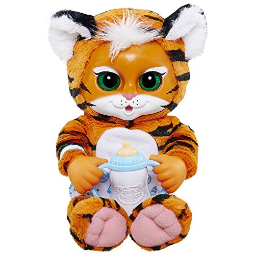 Amazon Com Animal Babies Deluxe Baby Tiger Plush Toys Games
