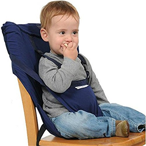 Monvecle Baby Portable Travel Chair Booster Safety Seat Cover Infant Harness Washable Sack Navy Blue by Monvecle (Image #1)