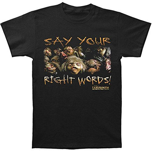 Labyrinth Say Your Right Words Mens Short Sleeve Shirt