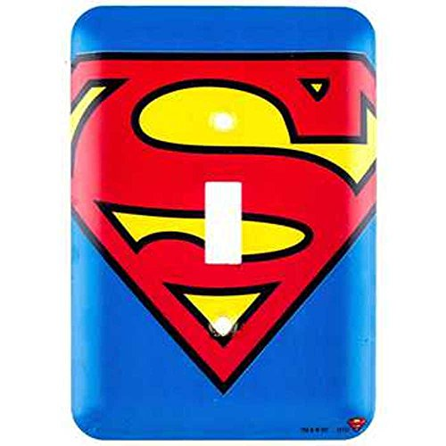 DC Comics Superman Symbol Wall Light Switch Cover (Symbol Switch)