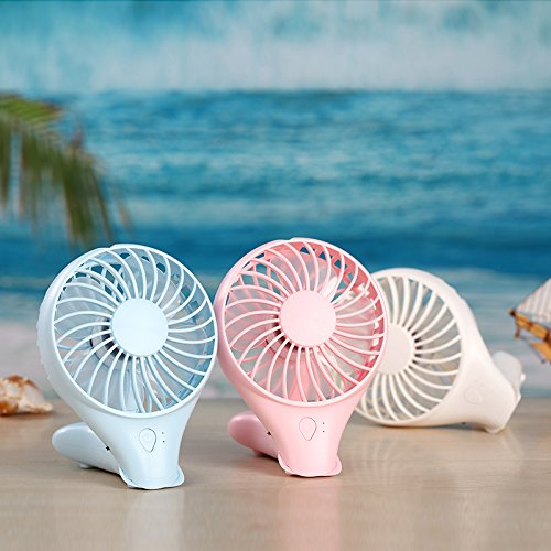 Air Conditioning USB Rechargeable Handheld Fan,Summer Fan Portable USB Charge Mini Desk Fan Foldable,MeiLiio Fish Style Electric Noiseless Cooling Fan for Kids Gift Children Women Men Travel (Blue) by MeiLiio (Image #7)