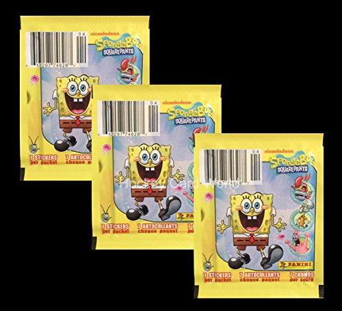 2011-nickelodeon-spongebob-squarepants-7-album-sticker-pack-x3-3-pack-lot-24-stickers
