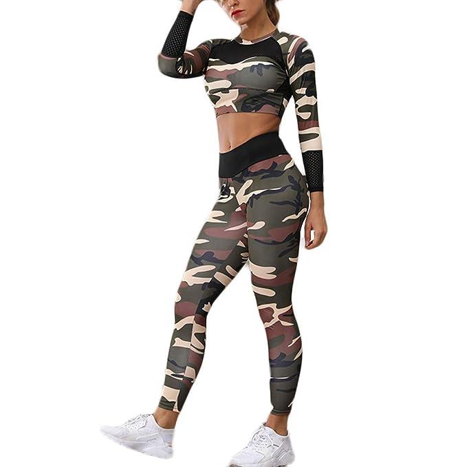conjunto ropa deportiva mujer bohemio chic 2pc conjuntos de sujetador crop top pantalon leggings yoga chandal estampada flores monos jumpsuit ...