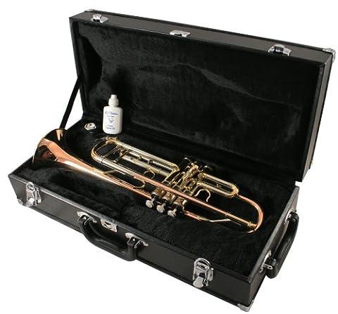 LJ Hutchen Bb Trumpet (Rose Brass Model) with Case - 2 Year Warranty