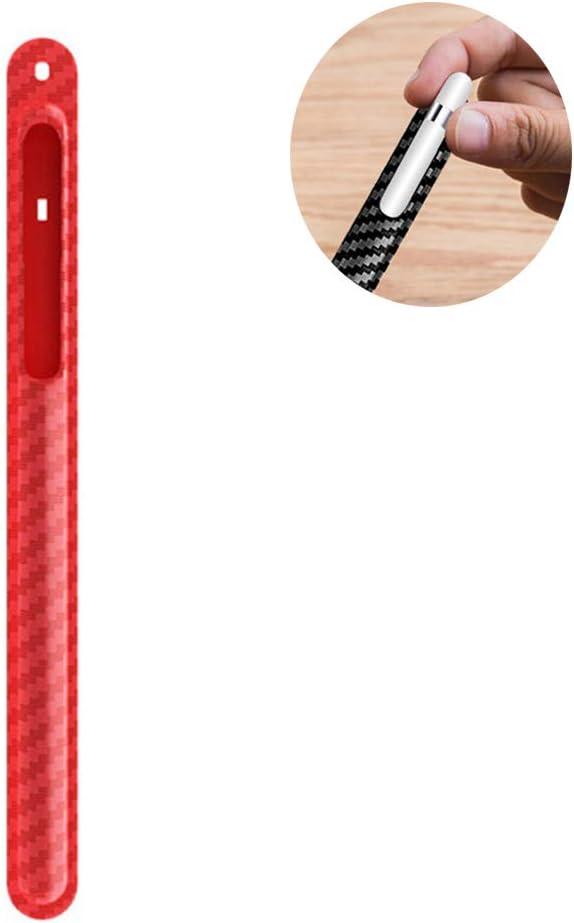 Funda 360 /° Protecci/ón Completa Anti-p/érdida para iPad l/ápiz Funda Protectora Khcr Funda de TPU Suave para Apple Pencil 1.a generaci/ón 2.a generaci/ón