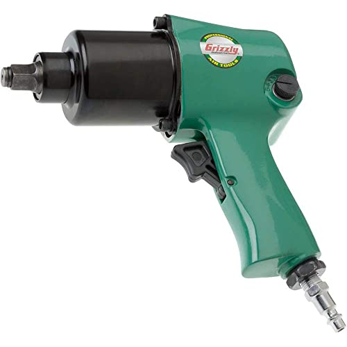 Grizzly Industrial H6140-1 2 Impact Wrench- Twin Hammer