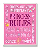The Kids Room by Stupell Princess Rules Dance And Twirl Rectangle Wall Plaque, 11 x 0.5 x 15, Proudly Made in USA