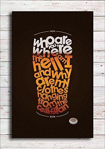 Pixel Artz - Beer Quotes Poster