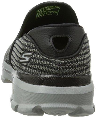 Gris GO 3 Walk basses Orange Sneakers Skechers charcoal homme ERdqxYR5w