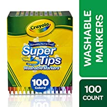 Crayola Super Tips Washable Markers, Gift Age 3+ - 100 Count