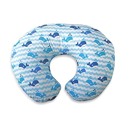 New Boppy Infant Feeding/Support Pillow with Whale Watch Slipcover