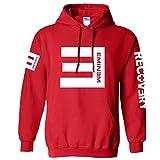 Nedal Red Uisex Hip Hop Sweatshirt Long Sleeves Eminem Hooded Jacket,L