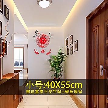 Wuulii decor horloge murale horloge murale moderne simple style chinois non ticking horloge